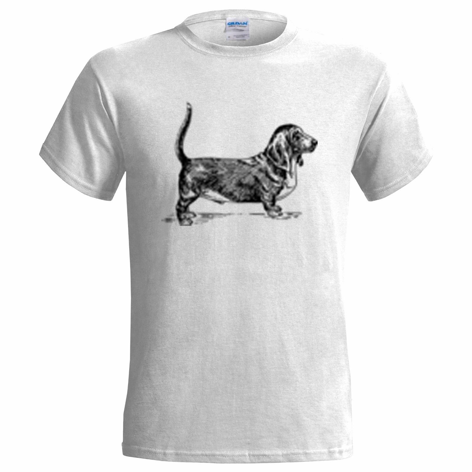 Basset Hound Sketch Hombres Camiseta Perro Perros Presente Regalo Canine Mascota Perrera Club