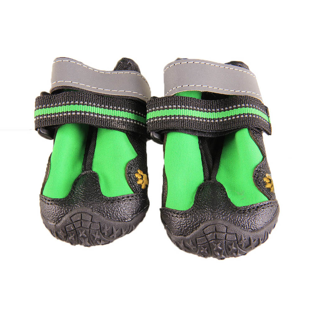 4pcs Pet Dog Boots Shoes Resistant Cute Dog Waterproof Hiking Shoes Multifunction Non-slip Best Price image