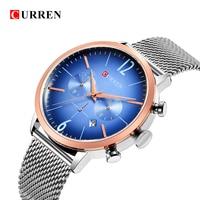 CURREN Luxury Brand Men Sport Watches Men's Digital Quartz Clock Stainless Steel Waterproof Wrist Watch relogio masculino 8313 3