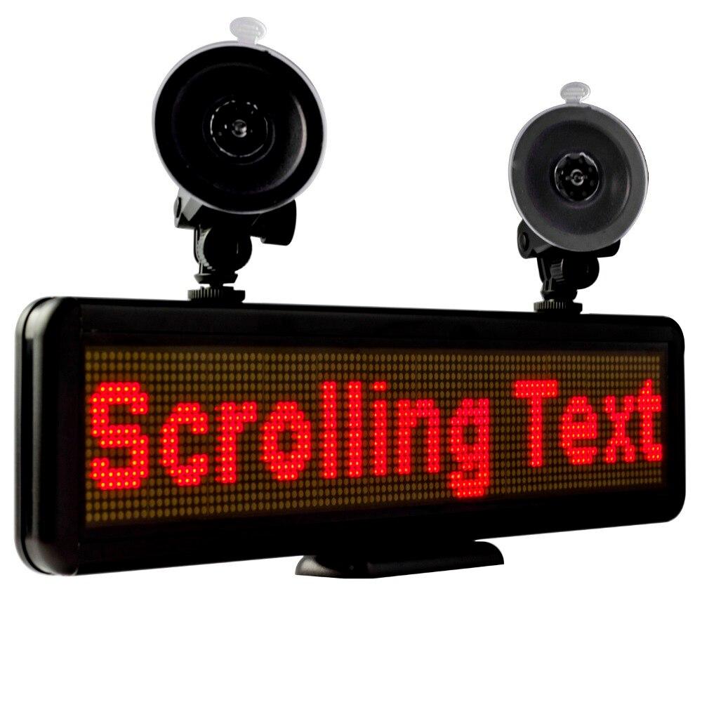 Affichage programmable rechargeable de publicité de message d'entrée d'usb d'affichage de fenêtre arrière de signe de Sar de LED rouge de 12 v 16X64 pour Lyft Uber