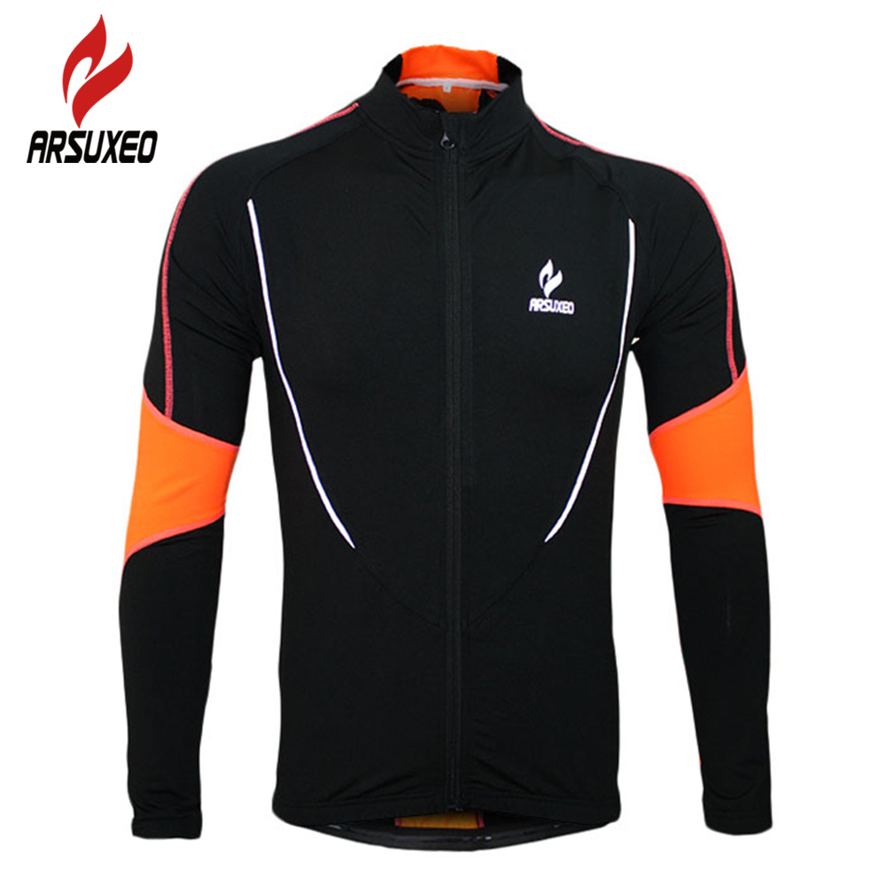 ФОТО 2017 ARSUXEO Warm Up Fleeces Running Fitness Excercise Cycling Bike Bicycle Sports Clothing Jacket Wear Cycling Clothing