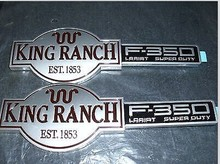 F-350 F350 KING RANCH FACTORY FRONT FENDER EMBLEMS