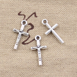 20pcs Charms Jesus Cross 23x16mm Antique Making Pendant fit,Vintage Tibetan Silver color,DIY Handmade Jewelry
