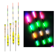 3pcs/lot Led Electronic Fishing Float Night Vision Electric Float Light Fishing Tackle Luminous Electronic Float without Battery
