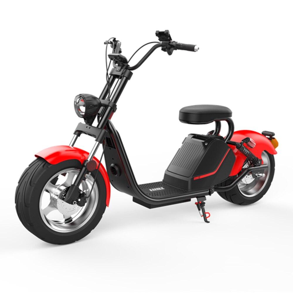 LUQI road légal cee/coc approuvé H3 1500w 60v 20ah/3000 w batterie amovible citycoco hors route scooter électrique navire de hollande