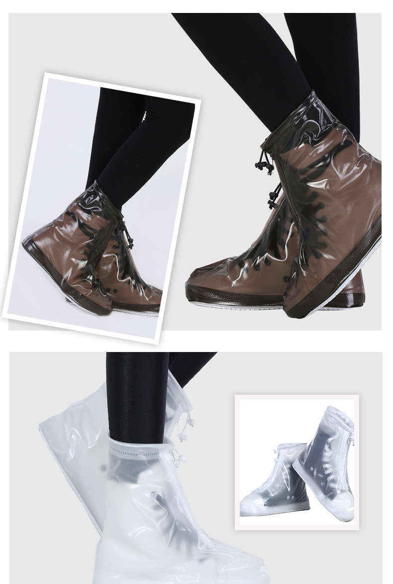 18 Newest Reusable Unisex Waterproof Protector Shoes Boot Cover Rain Shoe Covers High-Top Anti-Slip Shoe Cover 5