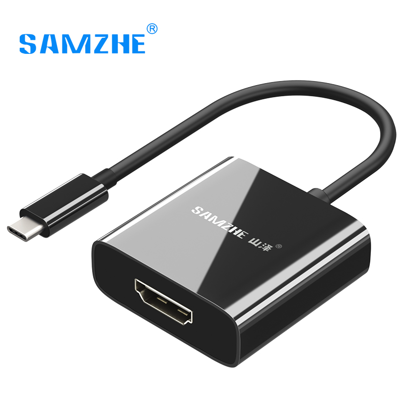 SAMZHE 4K*2K USB 3.1 Type-C to HDMI Adpater USB C to HDMI Converter Cable 1080P for Macbook SAMSUNG S8 Thunderbolt 3 Compatible