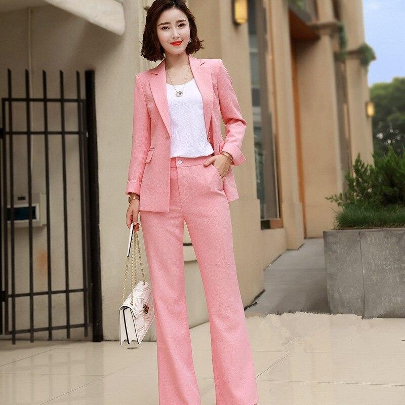 Customized New Hot Women's Fashion Temperament Slim Women's Suit Business Professional Dress Two-piece Suit (coat + Pants)