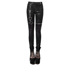 Rock Punk Winter Pu Leather Elastic Leggings Women's High Waist Long Trousers Street Personality Gothic Pants Black Female Capri