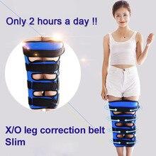 Novo o/x tipo perna pernas curvadas joelho endireitando ajustável correção cintos banda postura corrector fácil de usar para adulto criança