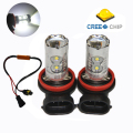 2pcs H11/ H8 50W Car LED Fog Light Fog lamps With Lens For Volkswagen VW Jetta 5 Golf 5 GTI MK5 Canbus No Error Free