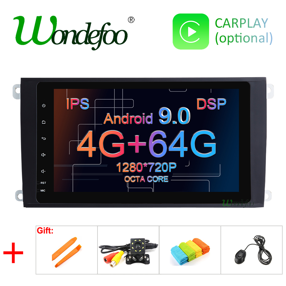 DSP IPS 2 Din Android 9 0 64G Car DVD multimedia GPS for Porsche Cayenne 2003