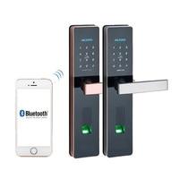 Блокировка дверей отпечатков пальцев, Водонепроницаемый электронный замок двери Интеллектуальный App биометрический замок Smart Wi Fi отпечатк