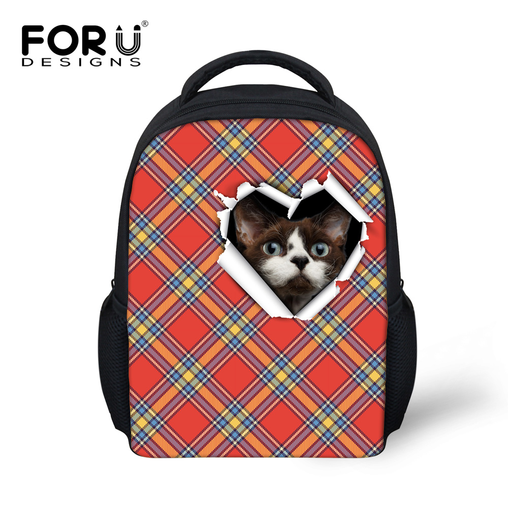 FORUDESIGNS New Fashion teenage school bags Cute 3D schoolbag 12 Inch Cartoon Kid For 3-5 years Child School Bag