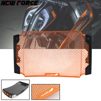 For KTM DUKE790 DUKE 790 2018 Motorcycle Accessories Radiator Grille Cover Guard Stainless Steel Protection Black orange