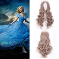 princess cinderella wig cosplay hair heat resistant anime wigs for women synthetic wigs curly Costume Party long wavy wig blonde