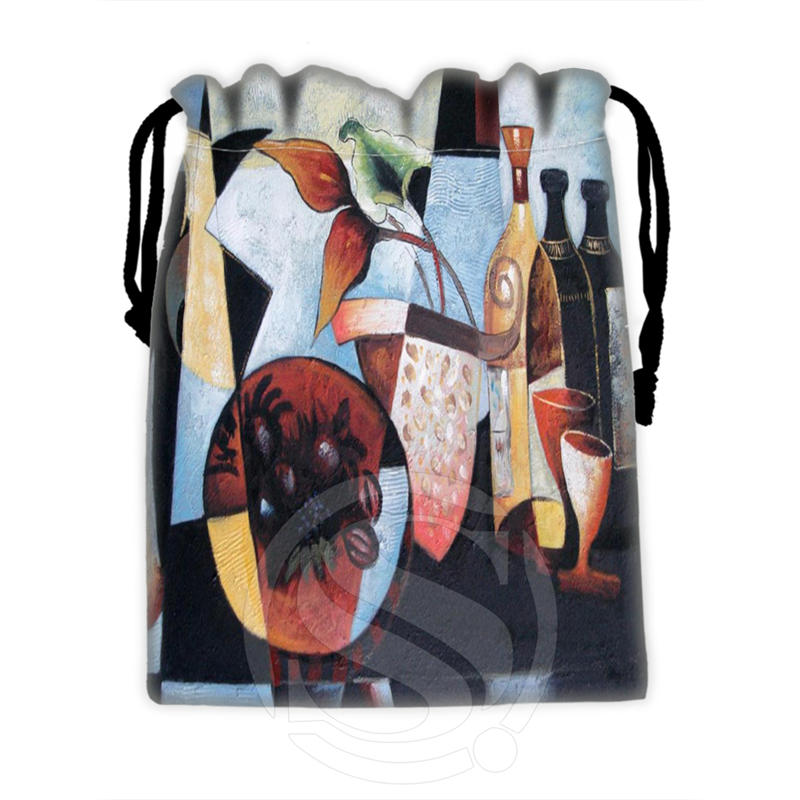 New Famous Western Oil Painting #6 Custom Logo Printed  Receive Bag  Bag Compression Type Drawstring Bags Size 18X22cm TW902#Y6