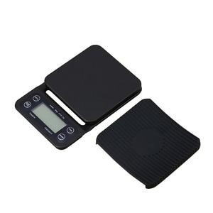 Image 2 - Balance électronique Portable avec minuterie 3kg/0.1g LCD balances de café de cuisine numérique outil de pesage balance de bijoux de précision balance