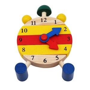 Image 3 - Puzzle en bois Montessori, jouets éducatifs à lheure numérique pour enfants, jeu éducatif, Mini Puzzle, 1 pièce