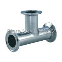 3 1/2'' 89MM SS304 clamped tee, Tee Stainless steel, Stainless steel pipe fitting,clamp tee,Sanitary Tee