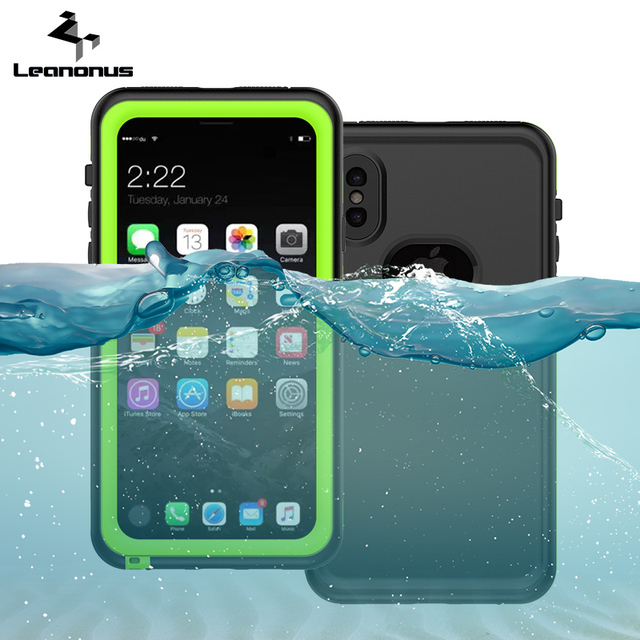 best service f94ec 8f3ba Waterproof Case For iPhone X Swim Proof Diving Water Shock Proof Cover  Phone Cases For iPhone 8 7 6 6s Plus Skiing Back Cover