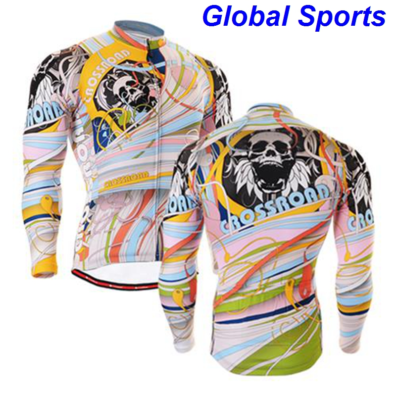 2017 colorful rock racing cycling jersey sublimation cool personalized bike riding jerseys tees tops clothing