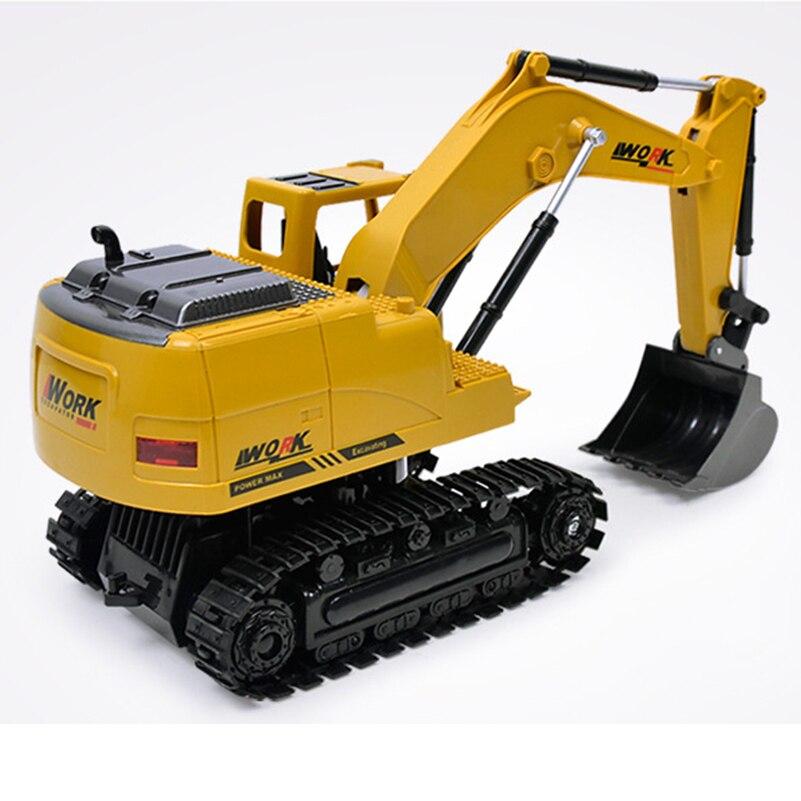 2.4G 8 CH Alloy RC Excavator სატვირთო - დისტანციური მართვის სათამაშოები - ფოტო 5