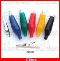 500 PCS 5 cores Insulation35mm teste de bateria jacaré teste de parafusos de