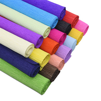 250*25cm Colored Crepe Paper Roll Origami Crinkled Crepe Paper Craft DIY Flowers Decoration Gift Wrapping Paper Craft pd045 100pcs 5 5 inch total colored vintage lace round green paper doilies paper scrapbooking craft doily paper mats paper pads