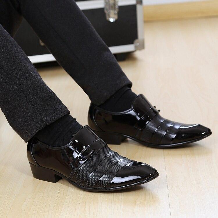 Мужские кожаные туфли Бесплатная доставка Koreanbritish мужская повседневная обувь тенденция замуж черная обувь с заостренным носком весенние д…