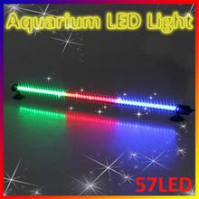 57 LED Aquarium Light 48cm Fish Tank Bar Waterproof Submersible Stick Strip Light Green Red Yellow Light Color for fish tanks