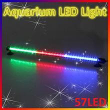 57 LED Aquarium Light 48cm Fish Tank Bar Waterproof Submersible Stick Strip Light Green Red Yellow Light Color for fish tanks
