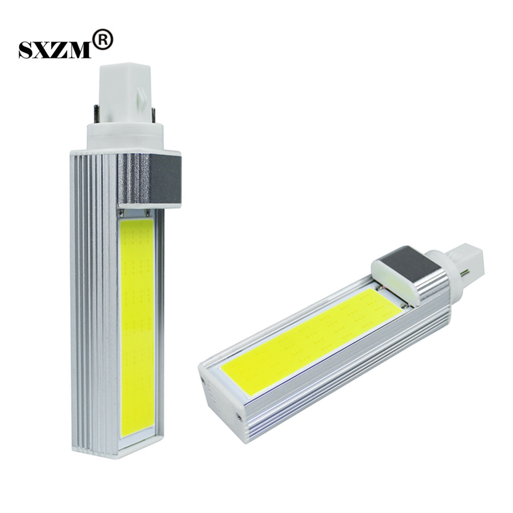 SXZM 12W G24 COB PL led Lamp bombillas AC220V 110V 145mm Warm white indoor led Downlight Energy saving CE free shipping