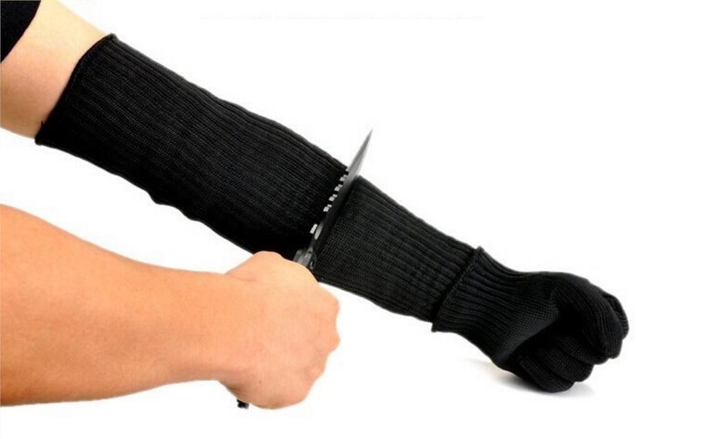 YSDNCHI 1 pair men <font><b>gloves</b></font> top cutting self defense arm guard top quality knife <font><b>glove</b></font> cut <font><b>resistant</b></font> protective safety sleeve G058