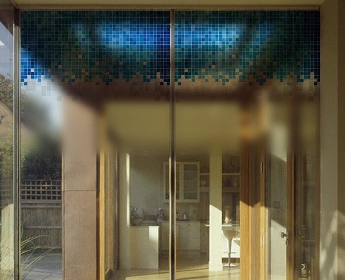 Multicolore mosaico di vetro adesivo con plastica glassato di vetro
