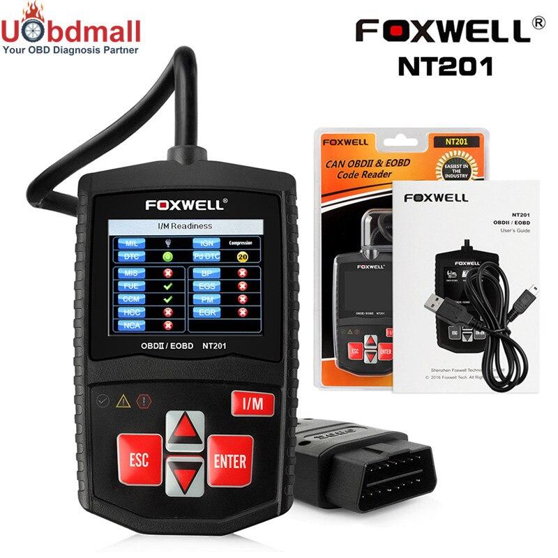 Prix pour D'origine foxwell nt201 outil de diagnostic automobile scanner lecteur de code de voiture eobd/obd 2 analyseur de moteur multi-langue