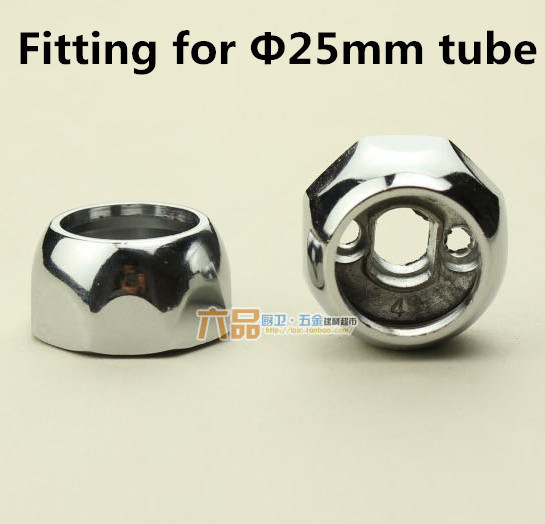 1pair Size Option 25mm High Quality Wardrobe Flange seat clothes tube holder fitting for 25mm tube