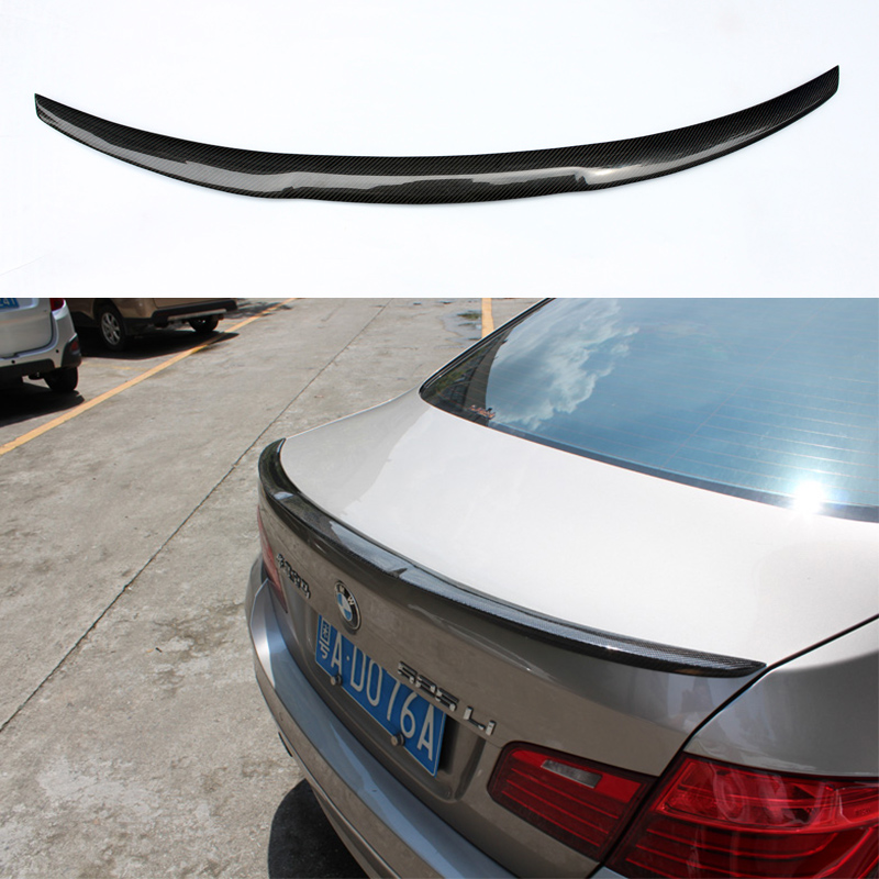 M4 Style F10 M5 Carbon Fiber Car Rear Body kit Trunk lip Spoiler Wing For BMW F10 M5 2011-2015 unpainted rear roof lip spoiler wing for bmw e87 e81 2004 2011