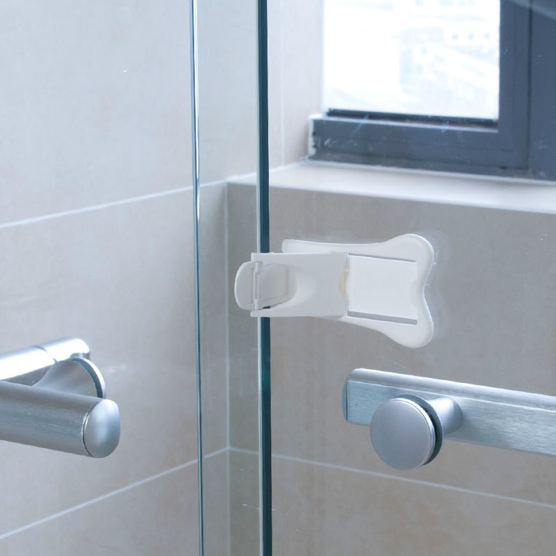 2PCS Baby Safety Lock Sliding Door Window Children Protection Locks Drawer Cabinet Door Multifunctional Anti-pinch Safety Lock