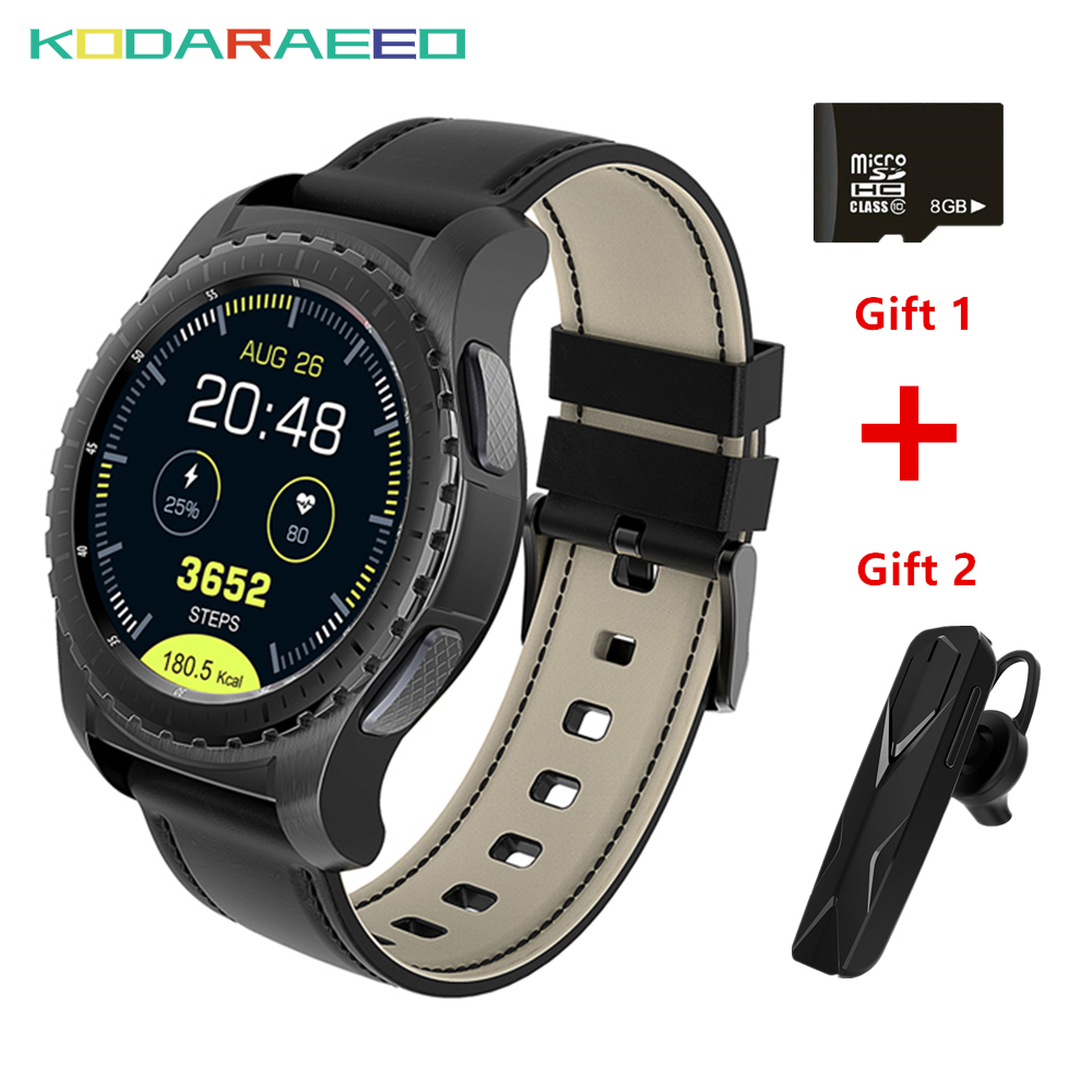 KW28 Smart Watch Bluetooth Support SIM/TF Card watch phone Men Fitness Heart Rate Tracker GPS Wristwatch For Android IOS Phone
