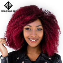 Spring Sunshine 18inch Ombre Afro Kinky Solft  Marley Braiding Hair Synthetic Crochet Marly Braids Natural Black 1b#