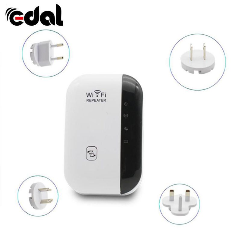 EDAL WiFi Repeater Signal Amplifier 802.11N/B/G Wi-fi Network Range Extander 300Mbps Signal Booster AU/EU/US/UK