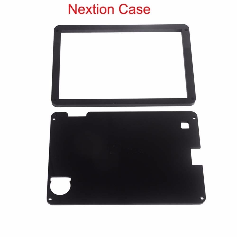 Black Acrylic Nextion Case For Nextion Enhanced 7.0 5.0 4.3 3.2 2.8 2.4 Inch HMI LCD Module Touch Display Screen FZ1719E-C