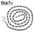 Beier new store 100% 925 silver sterling necklaces pendants trendy fine jewelry chains necklace for women/men  BR925XL04