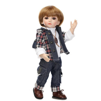 Fashion SD/BJD Doll with Clothes, Novelty 45 CM Lifelike Baby Vinyl Doll Toys for Children's Christmas Gift
