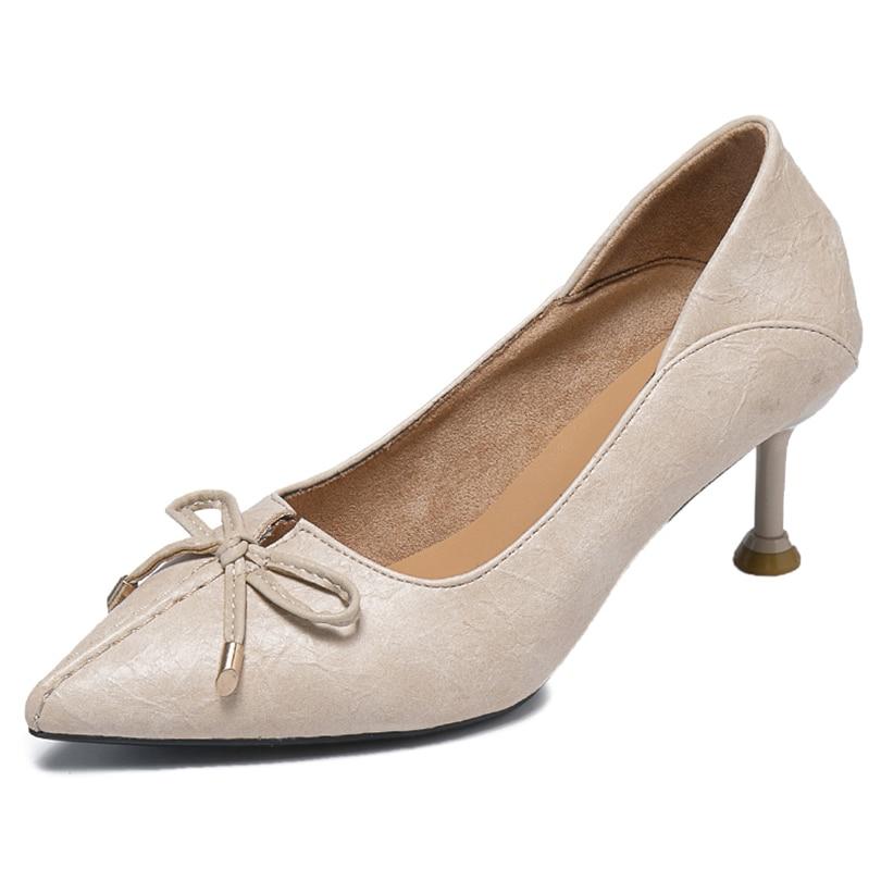 Zapatos Casuales Bombas Ol Primavera Patente otoño Del nudo 19 Mujeres Mariposa De Pie Puntiagudo Mujer Las Caucho Suave Flexible Talón camel beige Súper dedo Black R0HnH8q
