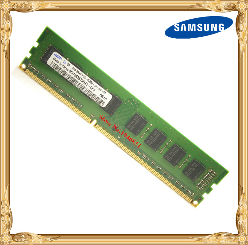 Samsung Desktop memory original DDR3 2GB 4GB 1066MHz 2G PC3-8500U PC RAM 1066 8500 new 4x8gb ddr3 pc3 8500 1066mhz desktop memory for amd intel desktop ram memory 8g 1066mhz