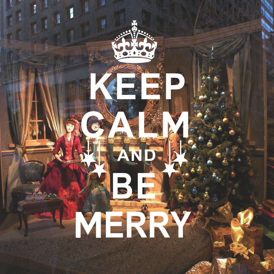 Keep Calm And Be Merry Christmas Imperial Crown Star Wall Sticker ...