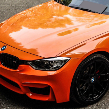 super glossy wrap vinyl auto wrappen with Air Bubble 1.52x18m/roll Glossy Orange