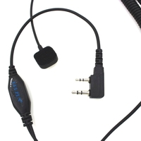 עבור kenwood רדיו 2 אצבע פין PTT אופנוע קסדה רדיו אוזניות ומיקרופון עבור KENWOOD 3207 Talkie Walkie רדיו Ham Baofeng UV5R UV5RA (4)
